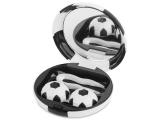 Alensa.co.uk - Contact lenses - Lens Case with mirror Football - black