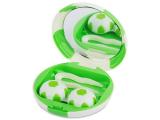 Alensa.co.uk - Contact lenses - Lens Case with mirror Football - green