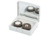Alensa.co.uk - Contact lenses - Lens Case with mirror Elegant  - silver