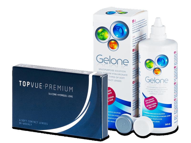 TopVue Premium (6 lenses) +GeloneSolution360ml